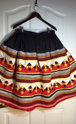 Seminole Patchwork  Skirt 6 Yards Of Patchwork  With Rick Rack New!!! ❤️