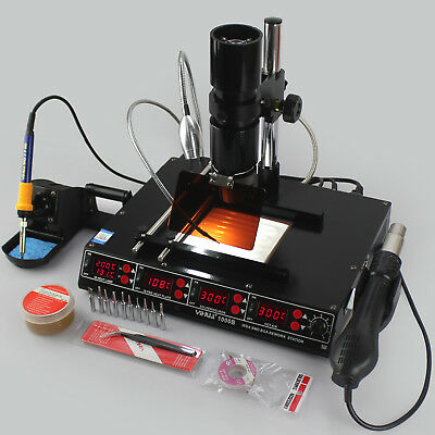Yh-1000B 4In1 Soldering Iron Hot Air Rework Preheating Infrared Bga Station