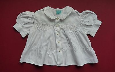 Baby Girls Vintage Smocked Blouse~Beautiful Detailing~Tiny Tot Original