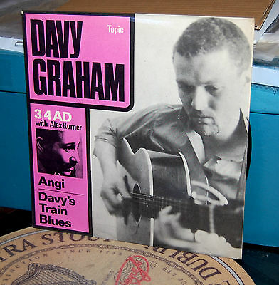 """Davy Graham & Alexis Korner.  """" 3/4 A.d. """"  Topic 7"""" Ep. Uk 1962.  Ex Cond."""
