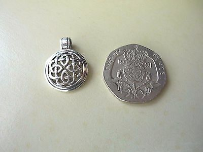 Vintage Celtic Knot Stamped Silver Charm/Pendant
