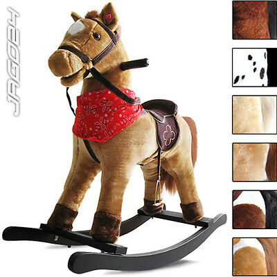 Kids Rocking Horse Pony Saddle Classic Children Boy Girl Toy Ride with Sound