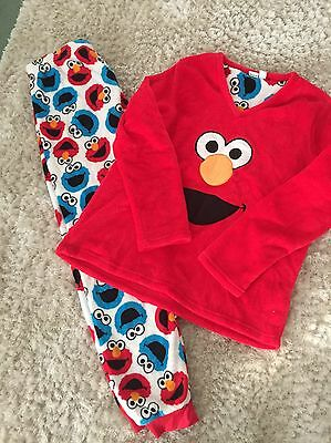 Ladies Sesame Street Fluffy Pyjamas Size 14-16