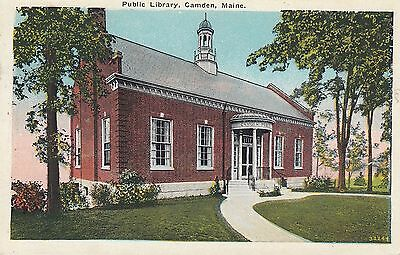 Camden, Maine The Public Library Vintage Postcard