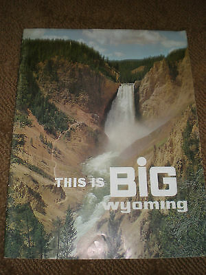 This is BIG Wyoming Tourism Guide Brochure Magazine Wyoming Travel Commission