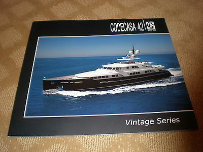 Codecasa 42 Vintage Series 2011  139' Color Marketing / Charter Yacht Brochure