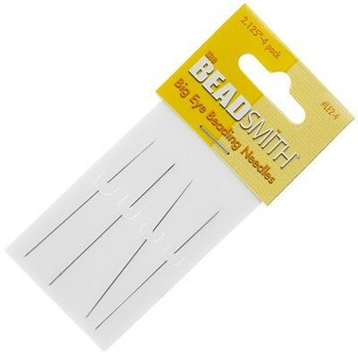 "Beadsmith Big Eye Beading Needles 2.125"" (54mm) Pack of 4 Made in UK (E39/5)"