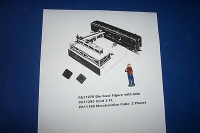 American Flyer Parts - PA11257 Man & 2-PA11180 Cubes for 770 #167