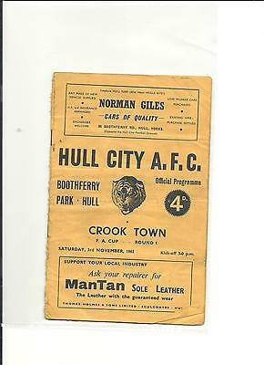 1962/63 FA Cup 1st round Hull City v Crook Town