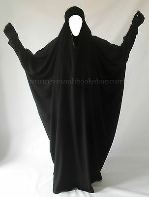 At Thiyaab 1 piece Overhead Black Abaya Jilbab Khimar Hijab Headscarf Pray Dress