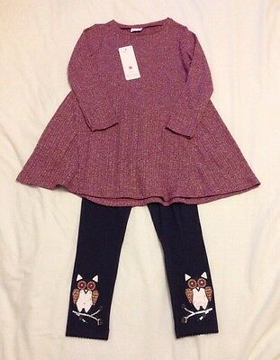F&F Kids Lovely 2-Piece Girls Outfit (Tunic & Leggings) Age 4-5 BNWT
