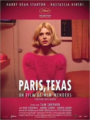 Affiche Photo 42x59,6cm PARIS, TEXAS 1984 Wim Wenders - Nastassja Kinski - R2014