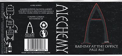 SCOTLAND ALECHEMY Bad Day At The Office - Pale Ale Beer Label