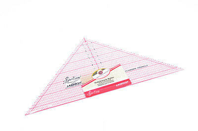 Sew Easy Quilting Ruler 90 Degree Triangle 7.5 x 15.5 Inch