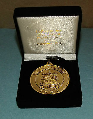 """2002 Republican Gold Medal, with Ribbon & Case; 2"""" Dia"""