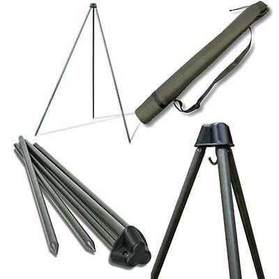 Saber Carp Fishing Deluxe Fishing Tripod System For Weighing With Carry Case