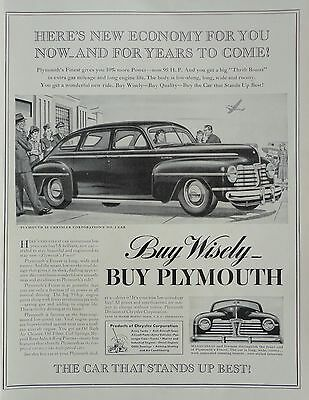 1941 ORIG PRINT AD PLYMOUTH buy wisely, buy Plymouth Special DeLuxe, at airport