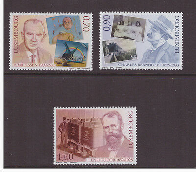 Luxembourg 2009 Celebrities Personalities set Mint MNH SG1856-1858 stamp