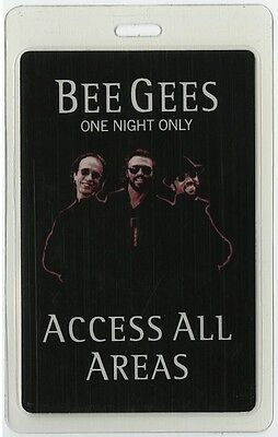Bee Gees authentic 1998 concert tour Laminated Backstage Pass