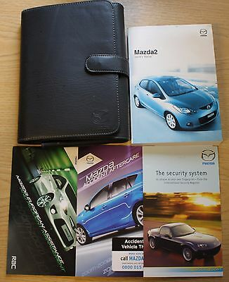 Mazda 2 Handbook Owners Manual With Audio Guide Wallet 2007-2010 Pack 11983