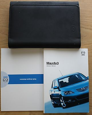 Mazda 3 Handbook Owners Manual Wallet 2003-2006 Pack 9862