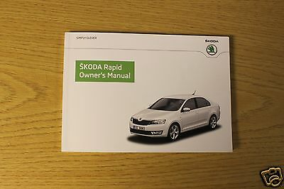 Skoda Rapid Handbook Owners Manual 2012 -2016 Book 5872