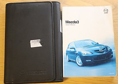 Mazda 3 Handbook Owners Manual Wallet 2006 - 2009 Pack 10915