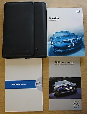 Mazda 6 Handbook Owners Manual Wallet 2002-2008 Pack 10913