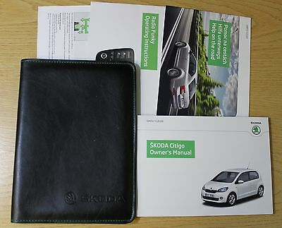 Skoda Citigo Handbook Owners Manual Wallet 2012 -2015 Pack 1665