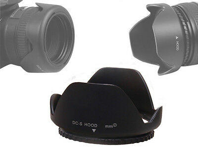55mm Reversible Petal Flower Lens Hood Screw Mount Canon Sony Nikon - UK SELLER