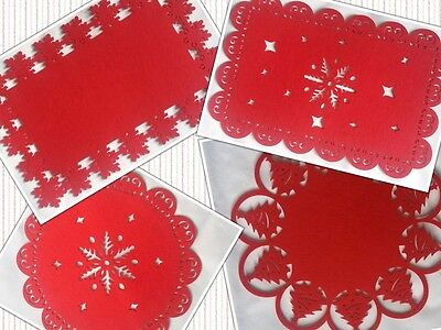 Christmas Table Placemats Set of 12 Coasters Dining Mats on Offer Last One