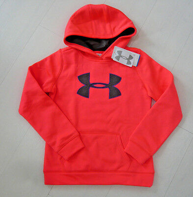 new UNDER ARMOUR GIRLS HOODIE BIG LOGO COLDGEAR neopluse SIZE M MEDIUM YOUTH