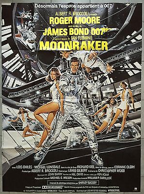 Affiche MOONRAKER Lewis Gilbert ROGER MOORE James Bond LOIS CHILES 120x160cm