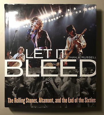 """The Rolling Stones """"Let It Bleed"""" Book Ethan A Russell w/ 1994 Concert Tickets"""
