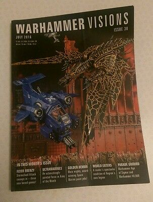 Warhammer Visions Magazine Issue 30 July 2016 from games Workshop- Cover creased
