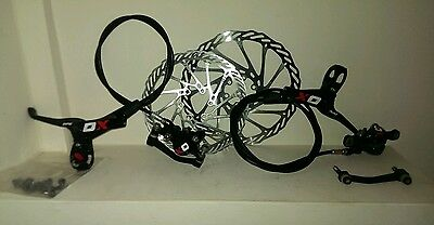 Avid Sram XO Carbon Elixir brakes rotors and mounts complete pair
