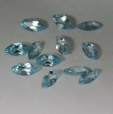 Natural Sky Blue Topaz Marquise cut  Loose Gemstone 12pc Lot 10x5mm