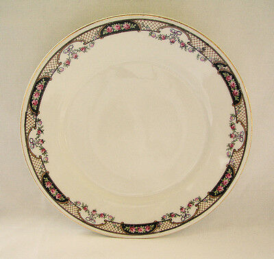"Antique WHITE BLOCK China Salad Plate 8""~Czechoslovakia"