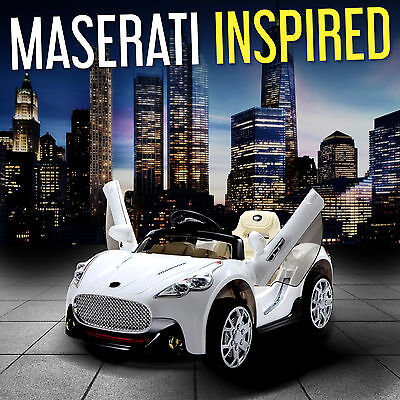 Maserati Style Kids Ride On Cars Electric Childrens 12V Car Parental Remote, MP3