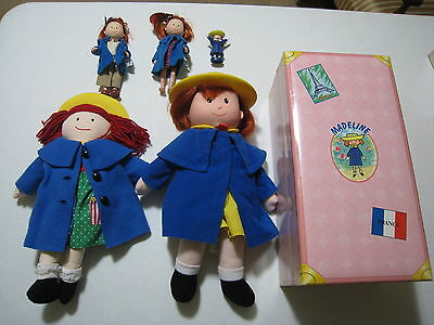 Madeline Doll Collection Lot - 5 dolls and case 1 talks!