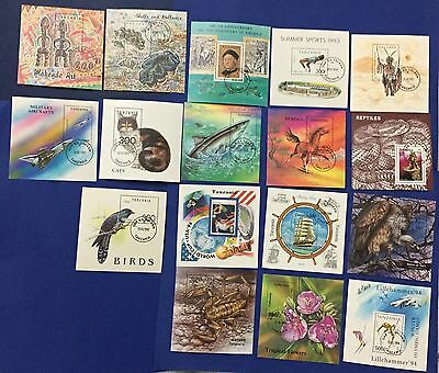 Tanzania Selection 1992/1994 Lot Of 17 Sheets Used Canceled Stamps Splendid