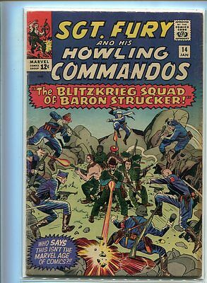Sgt. Fury #14 Solid Grade Action Packed Cover