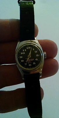 vintage us time zorro black fase watch with band