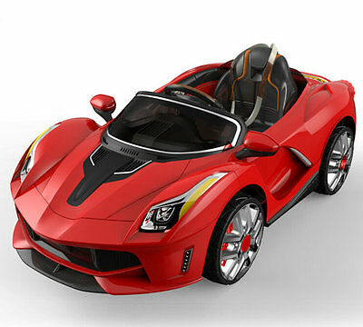 Ferrari Enzo Style Super Sports Car Kids Ride On Car 12V & Parental Remote, MP3