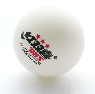 5 Boxes (30 Pcs) 3 Stars DHS 40 MM Olympic Table Tennis White Ping Pong Balls