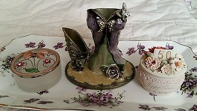 Collection of dressing table pots