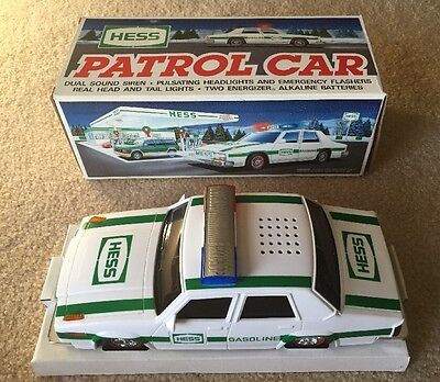 Hess Gas Truck PATROL CAR 1993 Pulsating Lights and Siren