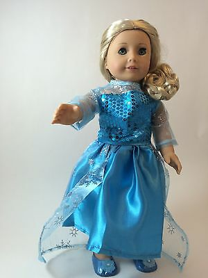Snow Princess dress  for Our Generation, American Girl, Journey Girl Dolls