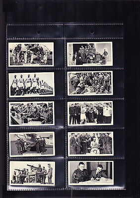 cigarette cards life in the services war 1938 full set