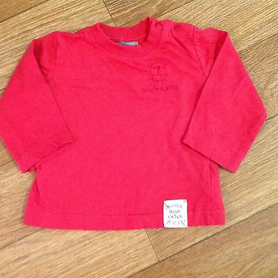 Pumpkin Patch Boys Size 00 Red Long Sleeve T Shirt Top Red ����